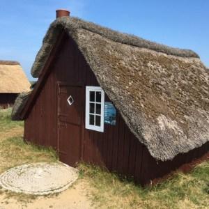 Altes Reed gedecktes Haus