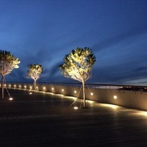 D Resort Dach bei Nacht