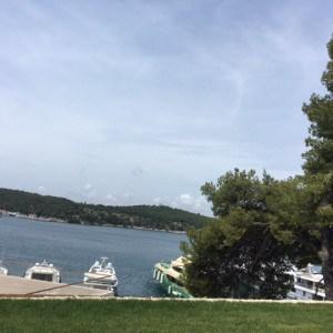 Blick vom D Resort auf den Yachthafen