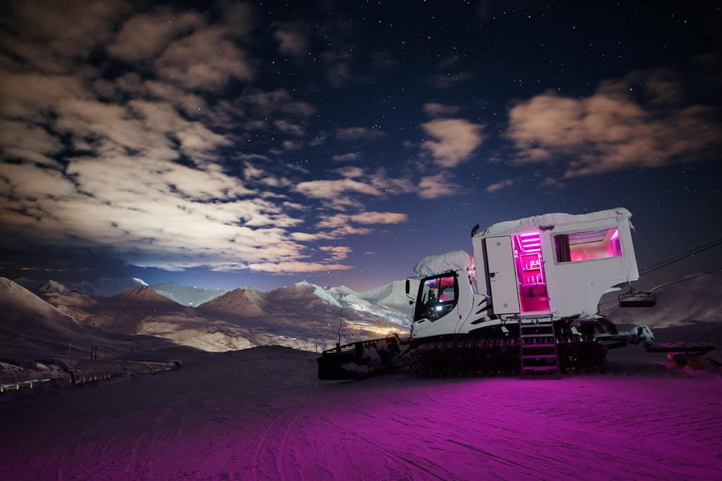 Pistenbully in La Plagne